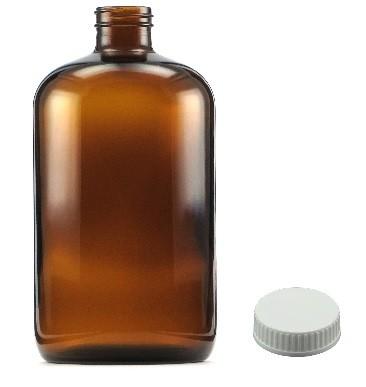 e3a0cfa8f9716 1Lt Amber Glass Bottle